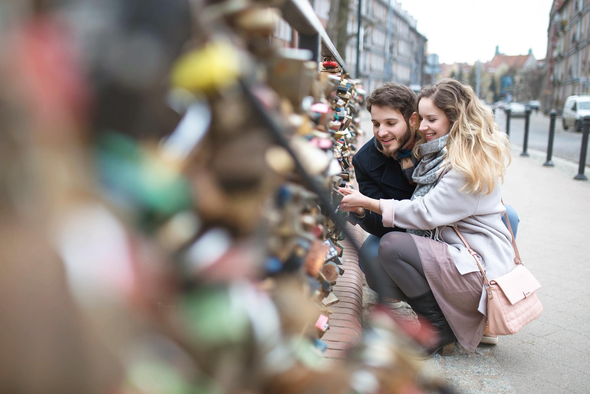 Most Miłości - zakochani