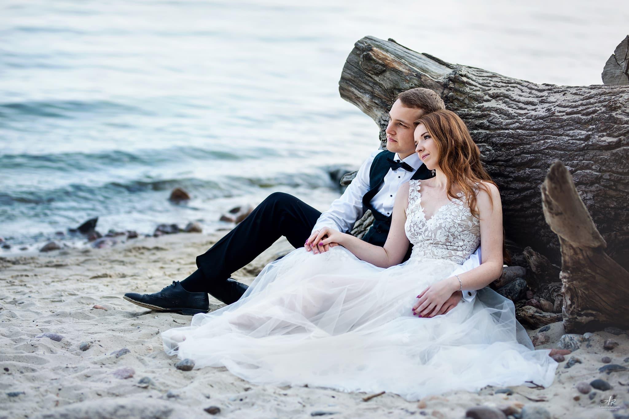 Sesja ślubna - Zdjęcia na morzem