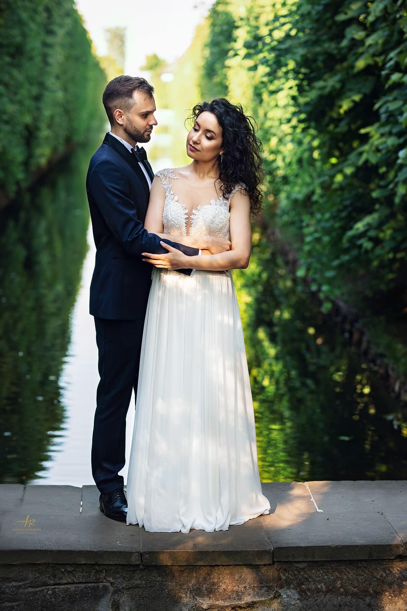 ślubne w parku oliwskim